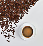 Coffee and beans Stock Images