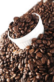 Coffee Beans. Close up of coffee beans, with shallow depth of field royalty free stock image