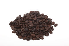 Coffee Beans. A photo of coffee beans isolated on a white background Stock Photos