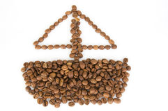 Coffee beans. Isolated on white background Stock Image