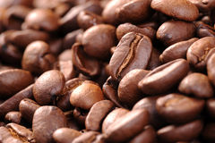 Coffee beans. A background of roasted coffee beans Stock Photo