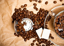 Coffee with beans Royalty Free Stock Photos