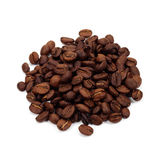 Coffee beans. Coffee beans isolated on white Royalty Free Stock Photo
