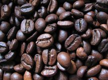 Coffee beans. Close-up,macro Royalty Free Stock Photo