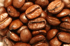 Coffee Beans. Macro Shot of Roasted Coffee Beans Royalty Free Stock Images