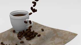 Coffee and Beans Royalty Free Stock Photo
