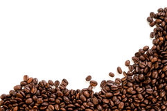 Coffee beans. On the white background with copy space Stock Images