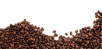 Coffee beans. On the white background with copy space Royalty Free Stock Images