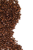 Coffee beans. On the white background with copy space Stock Photography