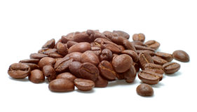 Coffee beans. Isolated on a white background Royalty Free Stock Photography