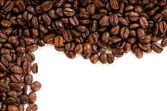 Coffee beans. On the white background with copy space Royalty Free Stock Image