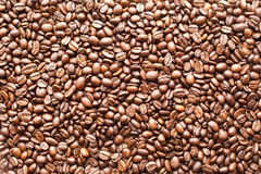 Coffee Beans. Brown Coffee Beans texture background Royalty Free Stock Photography