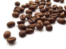 Coffee beans. Roasted coffee beans on white background Royalty Free Stock Photos