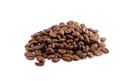 Coffee beans. Close-up, blurred, Colombian coffee bean Stock Photos