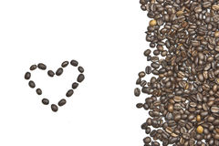 Coffee beans. As a framework for your own text Stock Photography