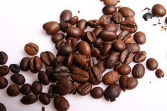 Coffee beans. Coffee of fresh natural beans Stock Image
