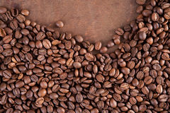 Coffee beans. On a dark background Royalty Free Stock Photography