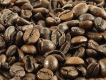 Coffee beans. Closeup of coffee beans background stock image