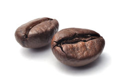 Coffee beans. On a white background royalty free stock image