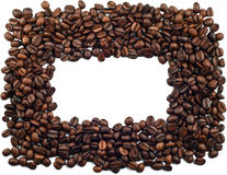 Coffee beans. Frame on white background Stock Photo