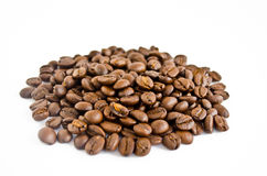 Coffee beans. Stack of coffee beans isolated on white background Royalty Free Stock Photo