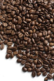 Coffee beans. Roasted coffee beans on white background stock image