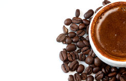 Coffee and beans stock image