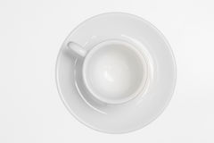 Coffee Beans. White modern coffee cup placed on white translucent background Stock Photos