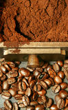 Coffee beans - 2vert Royalty Free Stock Images