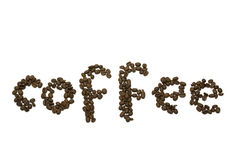 Coffee beans. On the white background royalty free stock photos
