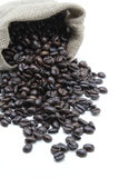 Coffee beans. Bag with some coffee beans Royalty Free Stock Photography