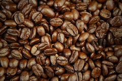 Coffee beans. Closeup of roasted coffee beans Stock Photos