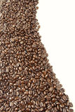 Coffee beans. Closeup of coffee beans on plain background. Copy space Royalty Free Stock Photography