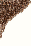 Coffee beans. Closeup of coffee beans on plain background. Copy space Stock Photo
