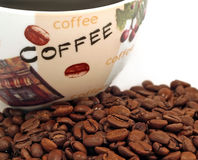 Coffee with beans Stock Photography