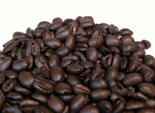 Coffee beans. Over white stock photo