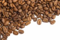 Coffee beans. On white Royalty Free Stock Photo