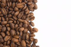 Coffee beans. On white Royalty Free Stock Image