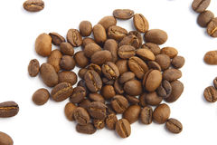 Coffee beans. On white Stock Photos