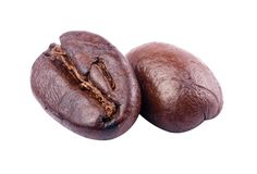 Coffee beans. Isolated on white background - with clipping path Royalty Free Stock Image