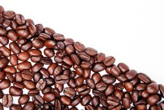 Coffee beans. Frame on isolated white background Stock Photos
