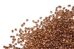 Coffee beans. On the white background with copy space Royalty Free Stock Photo