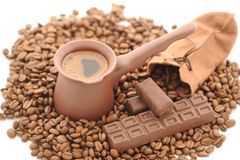 Coffee Beans. Lots of Natural Roasted Coffee Beans Background Royalty Free Stock Image