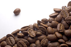 Coffee Beans. Some coffee beans isolated on white Stock Photos