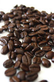 Coffee beans. Closeup perspective shot of roasted coffee beans Stock Image