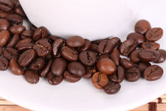 Coffee beans. Coffee cup with coffee beans Stock Images