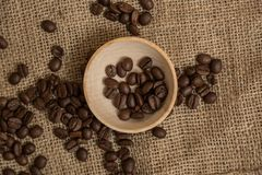 Coffee beans and anise Royalty Free Stock Image