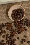 Coffee beans and anise Stock Images
