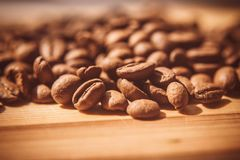 Coffee-beans. Aroma cofee light Stock Image