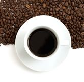 Coffee beans and aroma coffee Royalty Free Stock Photo